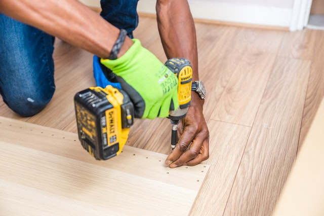 Brampton Wood Flooring worker