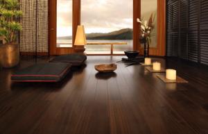 Dark chocolate hardwood flooring