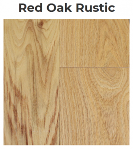 Red Oak Rustic Pattern Flooring