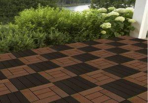 Patio tile flooring project
