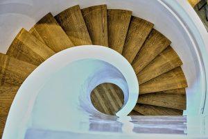 Brampton Flooring round stairs